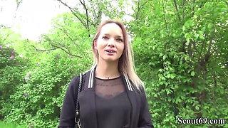 German Scout - Skinny Tattoo Teen Monika Seduce to Fuck Hard