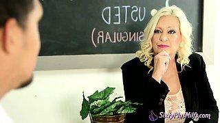Nasty mature teacher fucked