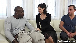 Cute Wife and Cuck Talk a Black into Ass Sex