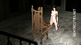 3D anime slave ride fucking machine