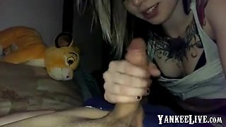 Blonde teen sucking and getting her pussy fucked