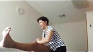 Chinese massage Granny happy ending Handjob