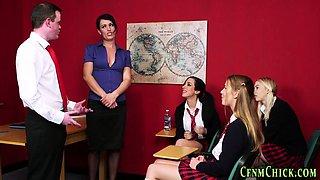 Cfnm teacher gets spunk