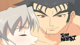 Fantastic grey haired hentai babe is so into sucking delicious lollicock