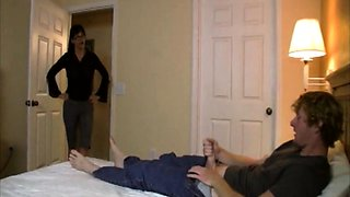 Milf Angie Niore scolds Joey for not writing his class