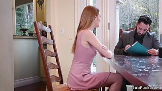 Lawyer anal fuck step sisters in bondage