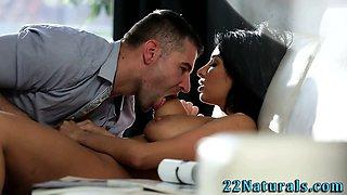 Erotic latina cutie rubs