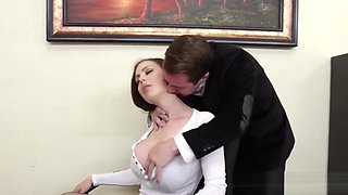 Massive Boobs Boss Milf At The Office
