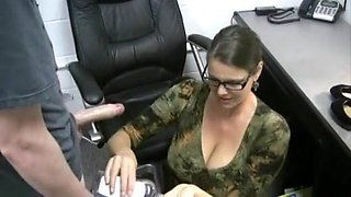 Incredible homemade Office, Facial porn video