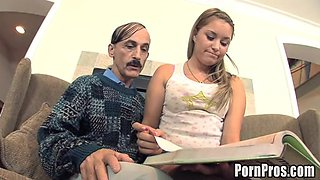 Kelly Rides Her Spanish Teacher's Big Old Fat Cock