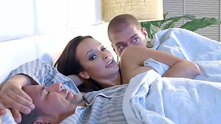 Mom fucked by step son next to her sleeping hubby