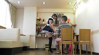 Best Japanese slut in Incredible Blowjob, Maid JAV video