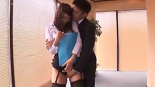 Amazing Japanese girl Ren Bitou in Incredible Secretary JAV movie