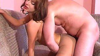 Genya and vika having pantyhose sex