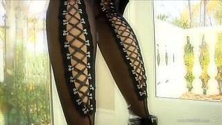 Asian Mika Tan In Latex Lingerie Getting Ready For a Gangbang