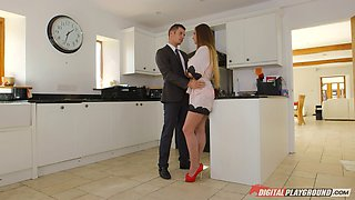 Housewife goddess cheats on hubby while he goes to work