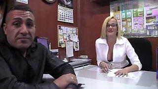 Hard sex with slut spanish secretary