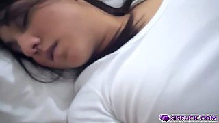 Amara Romani finger fuck by step bro while sleeping