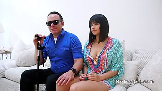 Latina wife cheating blind husband
