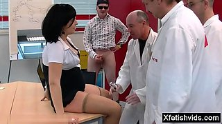 Hot pregnant gangbang with cumshot