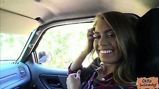Jill Kassidy fucks in a strangers car