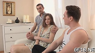 Racy young russian Ariadna gets fucked deep