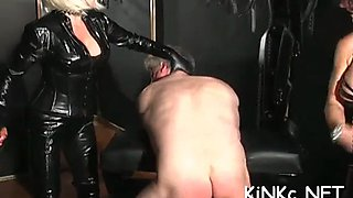 Mistress wraps up her slave