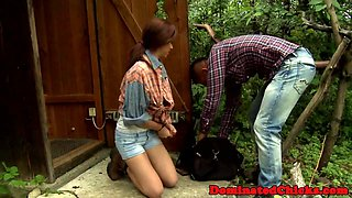 Spanked eurobabe dominated and blindfolded