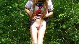 School Gurl Pai-chan's Secret Fun in the Woods