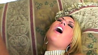 Blonde milf pleased with monster dick