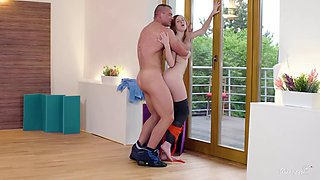 relaxxxed - erotic gym to fuck with sensual red Czech