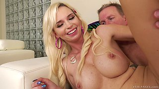 Astrid Star bounces on a stiff dick until she reaches an orgasm