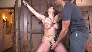 Skylar Snow abused with cock down her throat and ass in bondage