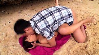 Dazzling Korean teen gets schooled in hardcore sex outside