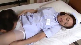 Horny Japanese whore Yuri Kashiwaga in Fabulous Nurse, Small Tits JAV movie