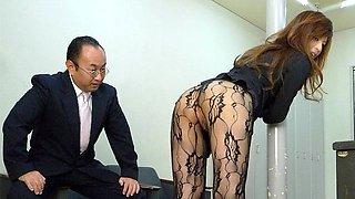 Rina Kikukawa in Rina Kikukawa fucked so hard by her horny boss - AviDolz
