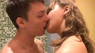 Shower Fucking With The Blonde Teen Lapushka