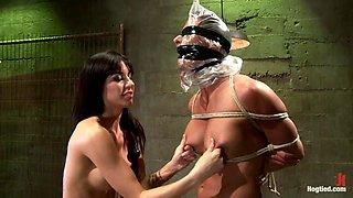 Brunette Babe Punishing Her Victim