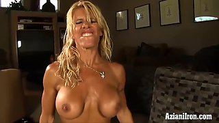 ripped fitness model rides the Sybian
