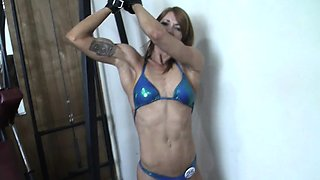 Redhead Charlotte Bound in the Gym