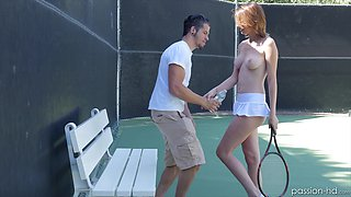 Smoking hot Cece Capella pleases a guy by fucking with him