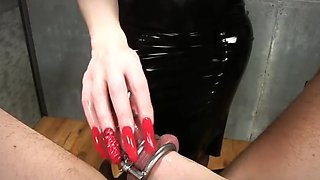 Sounding femdomlady black latexskirt