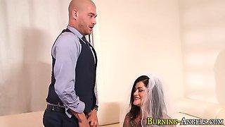tattooed bride gives head