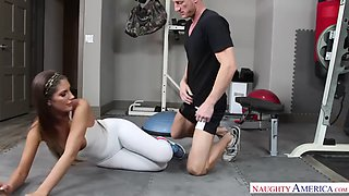 August ames fucking in the gym with her piercings