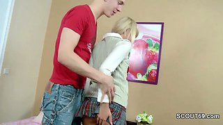 step brother caught virgin sister and seduce to fuck her anally