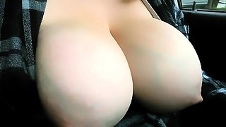 Busty brunette with pierced nipples is satisfying two guys