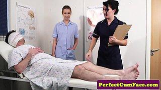 British nurses getting their faces creamed