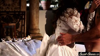 Milf bride spoon fucked in taboo action