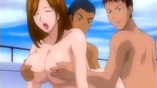 hot orgy on the big boat with hentai cuties