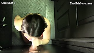 Welcome the sweet and innocent (ha) Elyce to our gloryhole.